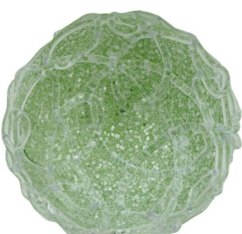 "4"" Pastel Dreams Soft Green Glittered Swirl Design Christmas Ball Ornament - 31420947"