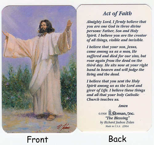 """Club Pack Of 50 """"Act Of Faith"""" Religious Prayer Cards - 6400163"""