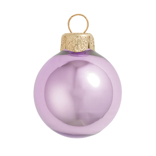 "6ct Pearl Soft Lavender Purple Glass Ball Chistmas Ornaments 4"" (100mm) - 30939931"