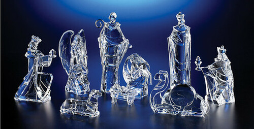 """Pack of 2 Icy Crystal Religious Christmas Nativity Figurines 8.8"""" - 31002124"""