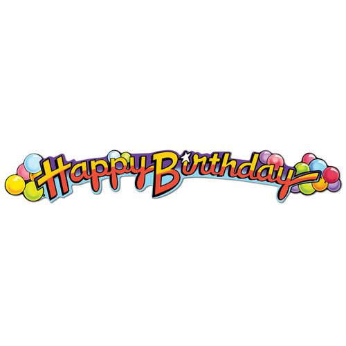 "Club Pack of 12 Multi-Colored ""Happy Birthday""  Streamer Party Decorations 35"" - 31562571"