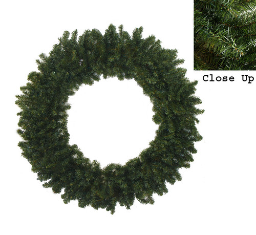 8' Commercial Size Canadian Pine Artificial Christmas Wreath - Unlit - 10844752