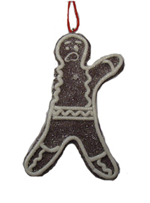 Sweet Memories Sugared Gingerbread Man Cookie w/ No Right Arm Christmas Ornament - 16459755