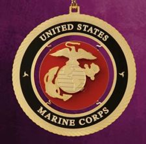 """ChemArt 2.5"""" Collectible Keepsakes United States Marine Corps Christmas Ornament - 30995375"""