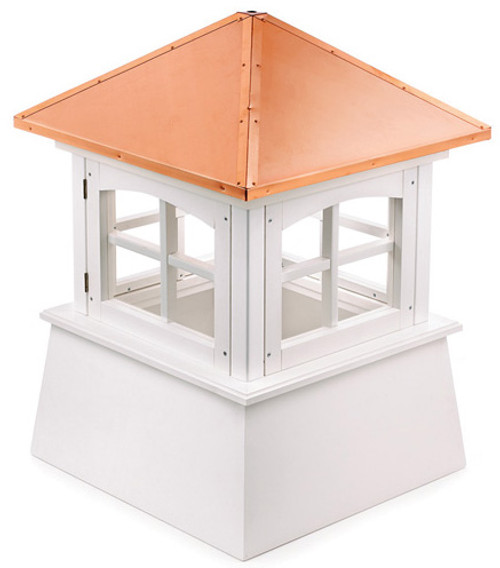 "30"" Handcrafted ""Windsor"" Copper Roof Vinyl Cupola - 9449886"