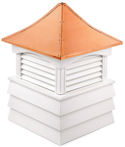 """26"""" Handcrafted """"Hyde Park"""" Copper Roof Vinyl Cupola - 9449881"""