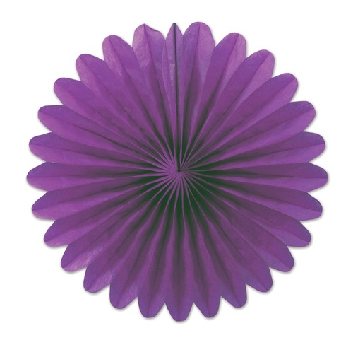 """Club Pack of 72 Plum Purple Miniature Tissue Paper Fan Hanging Party Decorations 6"""" - 31560711"""