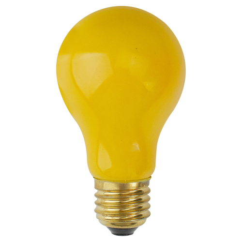 Pack of 25 Opaque Yellow E26 Base Replacement A19 Light Bulbs - 25 Watts - 31090564