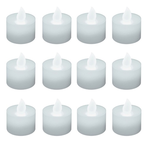 Club Pack of 12 Battery Operated LED Ultra Bright White Tea Light Candles - 30851533