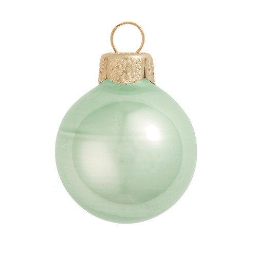 "28ct Pearl Shale Green Glass Ball Christmas Ornaments 2"" (50mm) - 30939592"