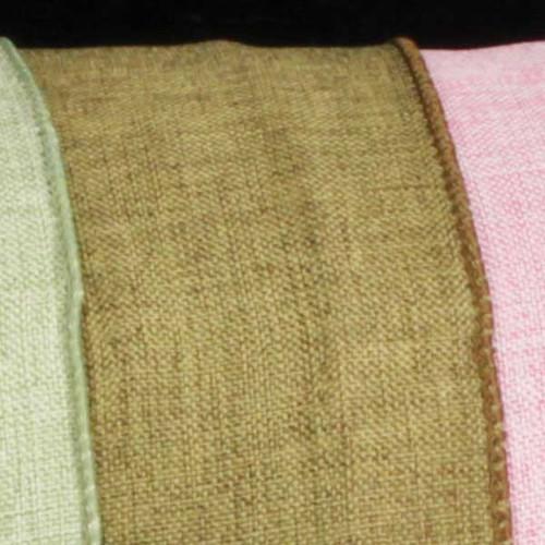 "Sage Green Wired Fine Linen Burlap Craft Ribbon 1.5"" x 40 Yards - 30931547"