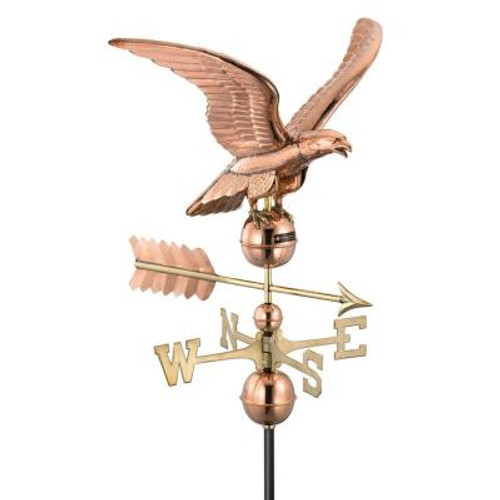 """30"""" Smithsonian Collection Handcrafted Polished Copper Eagle Outdoor Weathervane - 21330261"""