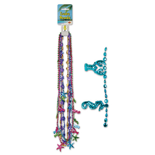 Club Pack of 72 Multi-Colored Luau Beaded Necklace Party Favors 32'' - 31564515