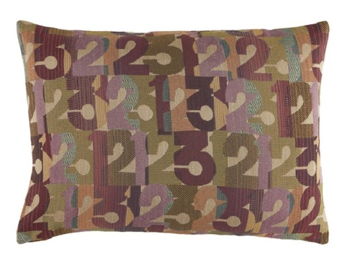 """13"""" x 19"""" Blending """"123"""" Olive Green, Violet and Beige Decorative Throw Pillow - 31504816"""