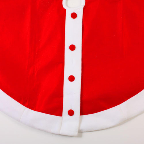 """48"""" Red Felt Santa Claus Jacket with Buttons Christmas Tree Skirt - 30852704"""