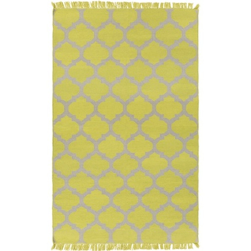 8' x 11' Imperial Fashions Kiwi Lime and Dove Gray Hand Woven Area Throw Rug - 31368420