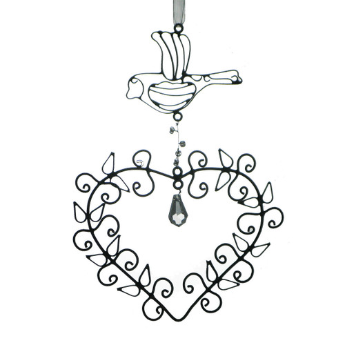 """Set of 3 Antique Style Egyptian Hand Crafted Wire Heart Christmas Ornament 5.75"""" - 31010544"""