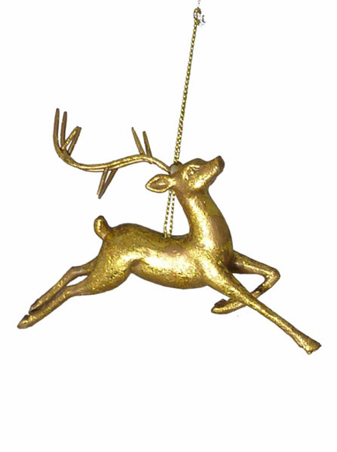 """Sugared Fruit Gold Foil Reindeer with Bent Leg Christmas Ornament 5"""" - 11239047"""