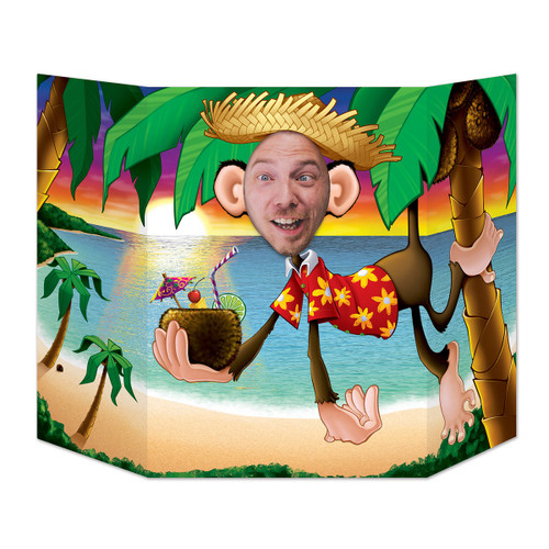 "Pack of 6 Luau Monkey Photo Prop Decorations 37"" x 25"" - 31558296"