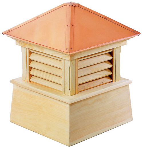 """32"""" Handcrafted """"Bristol"""" Copper Roof Wood Cupola - 9449901"""