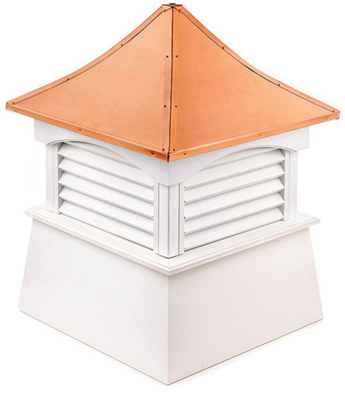 """42"""" Handcrafted """"Coventry"""" Copper Roof Vinyl Cupola - 9449906"""