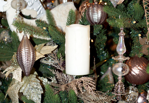 Set of 3 Forest Green Adjustable Metal Christmas Tree Display Arms with Hardware - 30657050