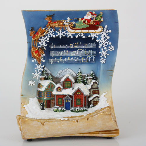 """10.5"""" LED Lighted Musical Holiday Village Book Christmas Tabletop Decoration - 21293536"""