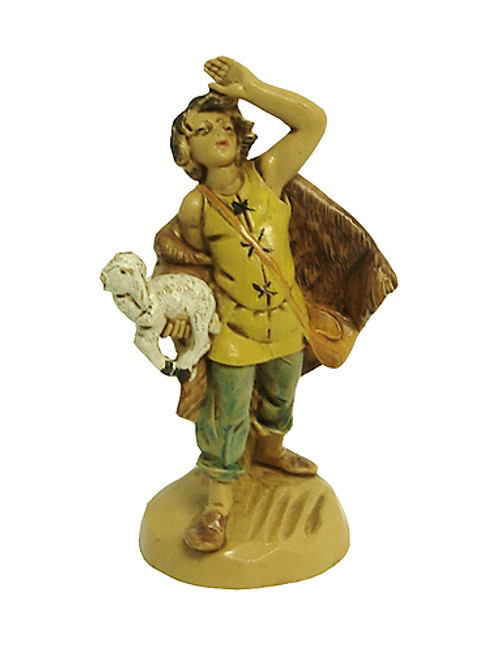 """Fontanini 2.5"""" Collection Micah With White Sheep Figurine #51058 - 5183967"""