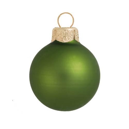 "Matte Lime Green Glass Ball Christmas Ornament 7"" (180mm) - 30940241"