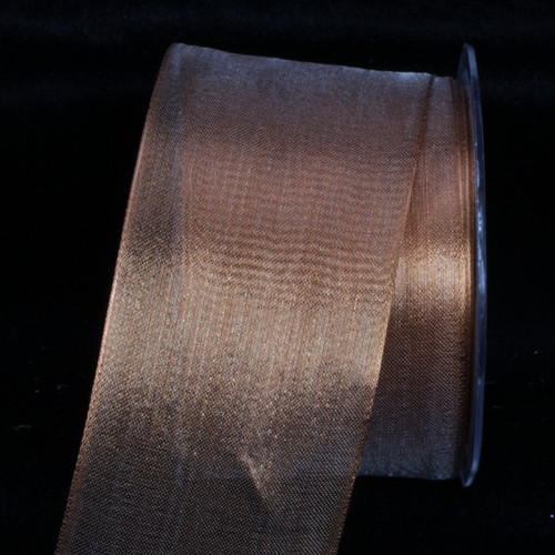 "Sheer Metallic Copper Wired Craft Ribbon 2.5"" x 25 Yards - 31388195"