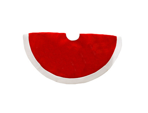 """48"""" Traditional Santa Suit Red with White Trim Christmas Tree Skirt - 9613000"""