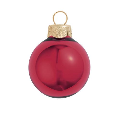 "Shiny Burgundy Red Glass Ball Christmas Ornament 7"" (180mm) - 30940210"