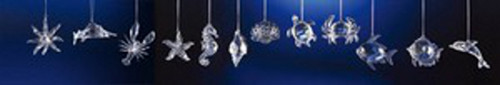 """Club Pack of 48 Icy Crystal Decorative Sea Creature Ornaments 3.5"""" - 31002402"""