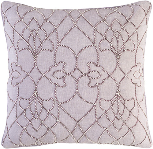 """18"""" Lavender Blush and Ivory Modish Western Woven Decorative Throw Pillow - Down Filler - 32215648"""