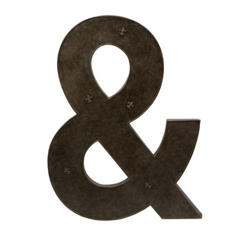 """39"""" Oversized Iron Ampersand """"&"""" Magnet Board with Fleur-De-Lis Magnets - 28672904"""