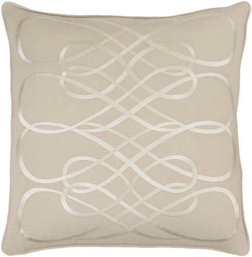 "22"" Soft Brown Fawn and Cashmere White Woven Decorative Throw Pillow - Down Filler - 32216393"