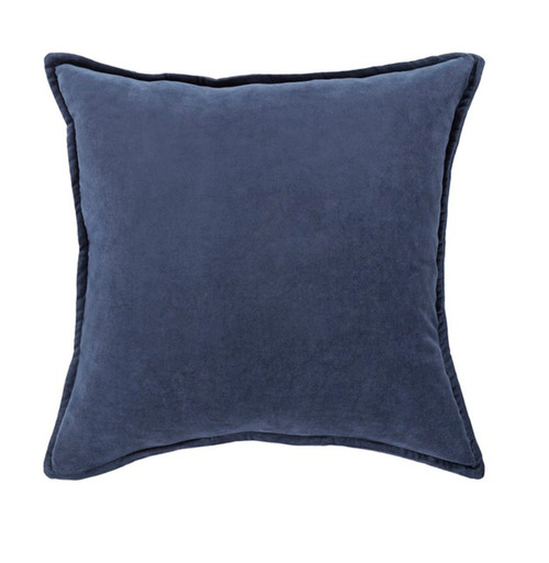 "18""Muted Dark Blue Contemporary Woven Decorative Throw Pillow –Down Filler - 31395227"