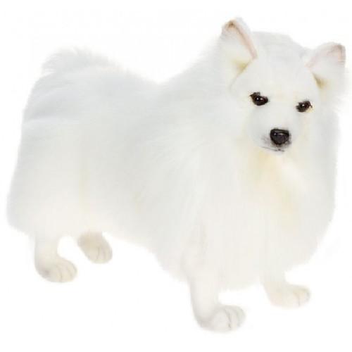 """18"""" Lifelike Handcrafted Extra Soft Plush White Akita Spitz Dog Stuffed Animal - 31068753"""