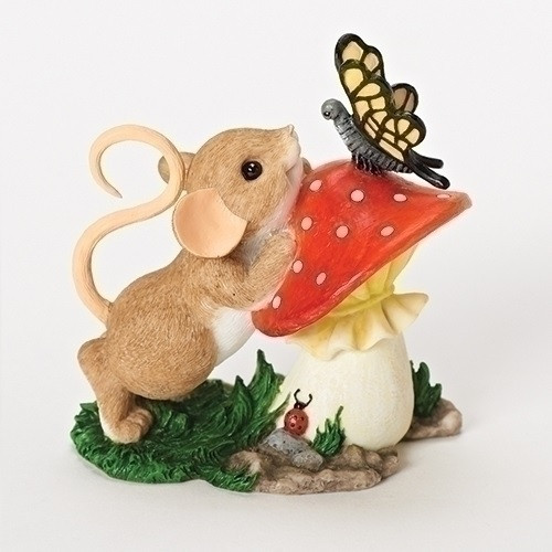 "3.25"" Charming Tails ""You Are So Beautiful To Me"" Mouse and Butterfly Collectible Tabletop Figure - 32282070"