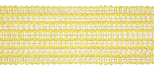 "Pale Lemon Yellow Mesh Wired Wedding and Craft Ribbon 1.5"" x 60 Yards - 30894164"