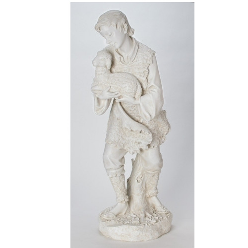 "39"" Scale Joseph's Studio Ivory-Color Shepherd and Sheep Nativity Figure - 26635893"