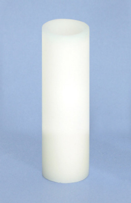 """Pack of 6 White Flameless Wax LED Pillar Candles w/Timer 1.75"""" x 6"""" - 18363119"""