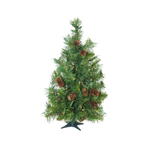 Madison Pine Christmas Tree: 7' Pre-Lit Full Winchester White Pine Artificial Christmas