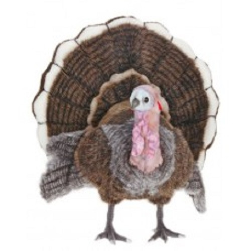 "18.25"" Life-Like Handcrafted Extra Soft Plush Medium Turkey Stuffed Animal - 31068880"