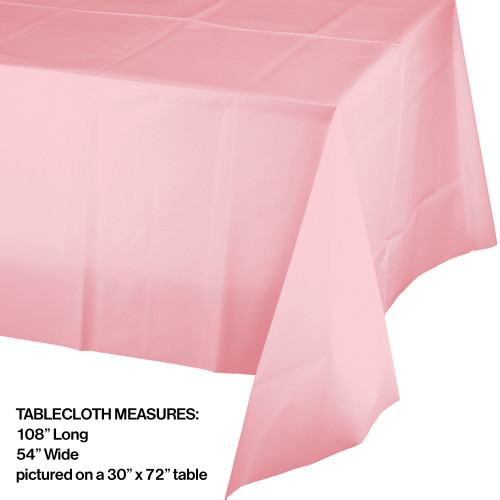 """Pack of 24 Classic Pink Disposable Plastic Banquet Party Table Cloth Covers 108"""" - 31381580"""