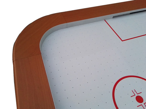 7' x 4' Recreational Brown, White and Red Air Hockey Game Table - 32283731