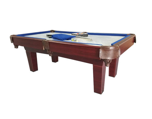 7' Brown and Blue Slate Billiard and Pool Game Table - 32283734