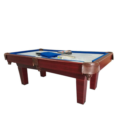 8' Brown and Blue Slate Billiard and Pool Game Table - 32283733