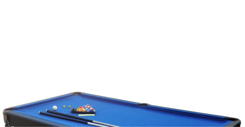 6' x 3.3' Black and Blue Slate Billiard and Pool Game Table - 32283727