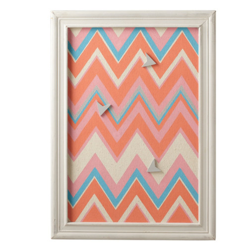 "Set of 2 Decorative Multicolored Zig-Zag Magnet Board with 3 Arrow Magnets 24"" - 31518519"